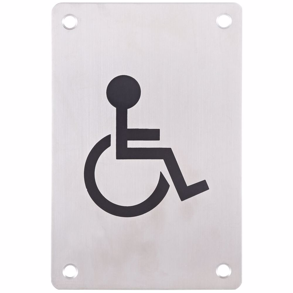 Washroom/Toilet Sign Plate Handicap