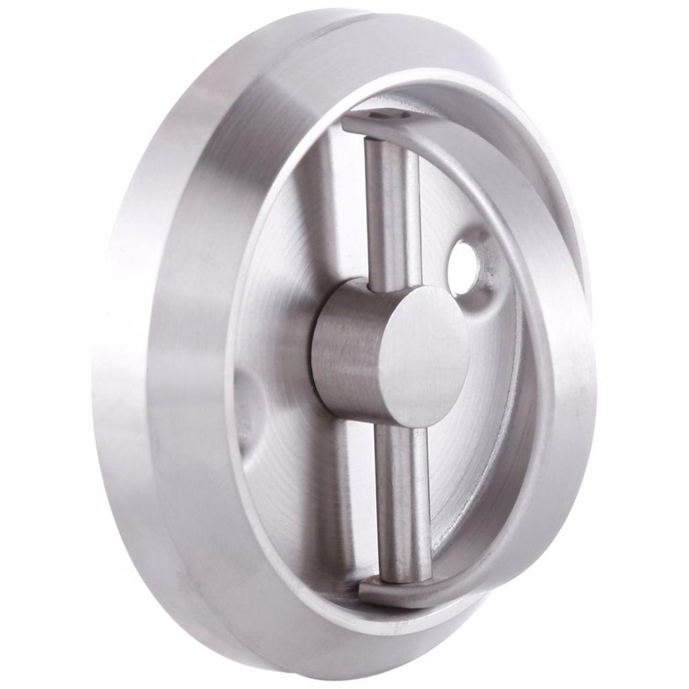 Furniture Sliding Inset/Flush/Concealed Round Door Handle - Drawer/Cabinet/Closet