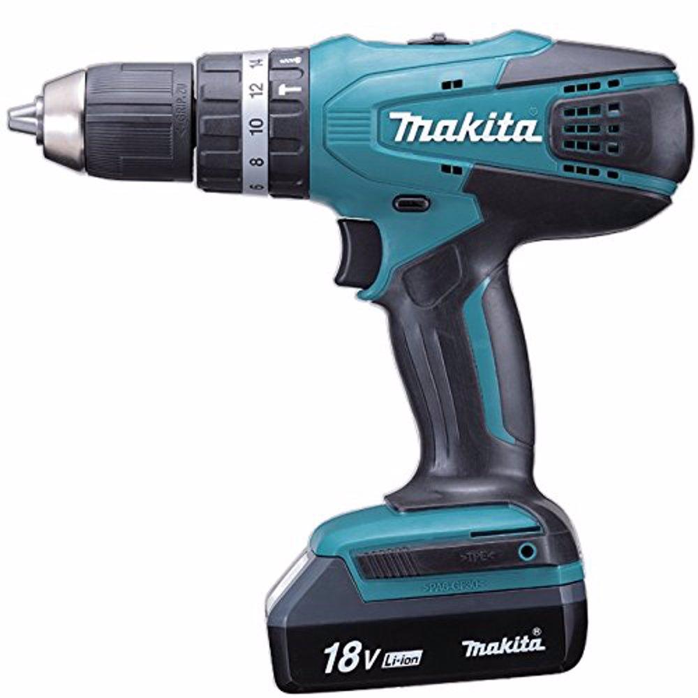 Makita HP457DWE Cordless Drill Hammer 13Mm 18V