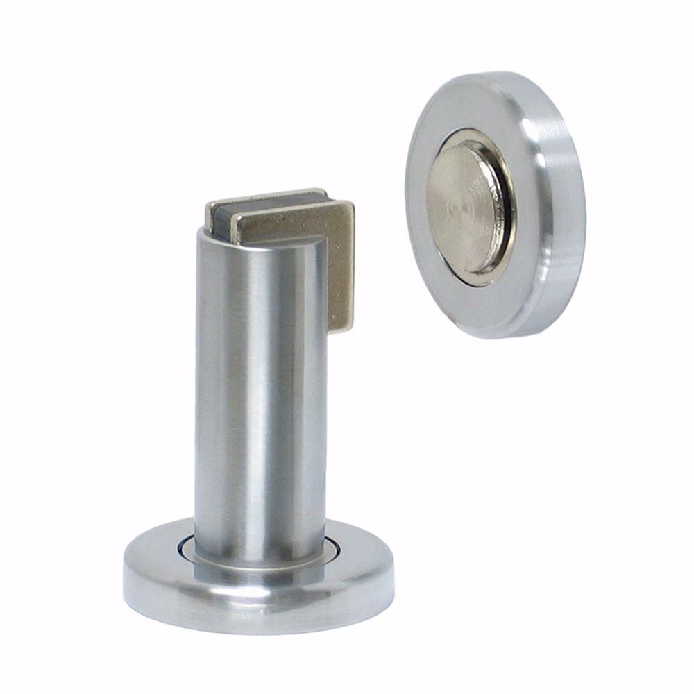 Dorfit DTDS030 Stainless Steel Heavy Duty Magnetic Door Stopper, Wall/Floor Mount