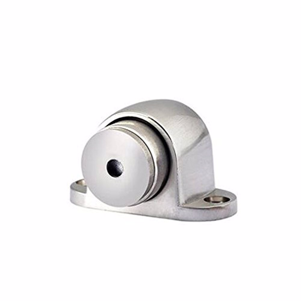 Dorfit DTDS031 Zinc Magnetic Door Stopper Floor Mounted, Satin