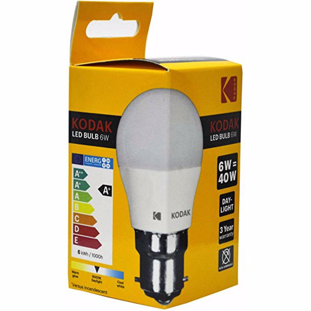Kodak Led Bulb Golf G45 B22 6W - Daylight