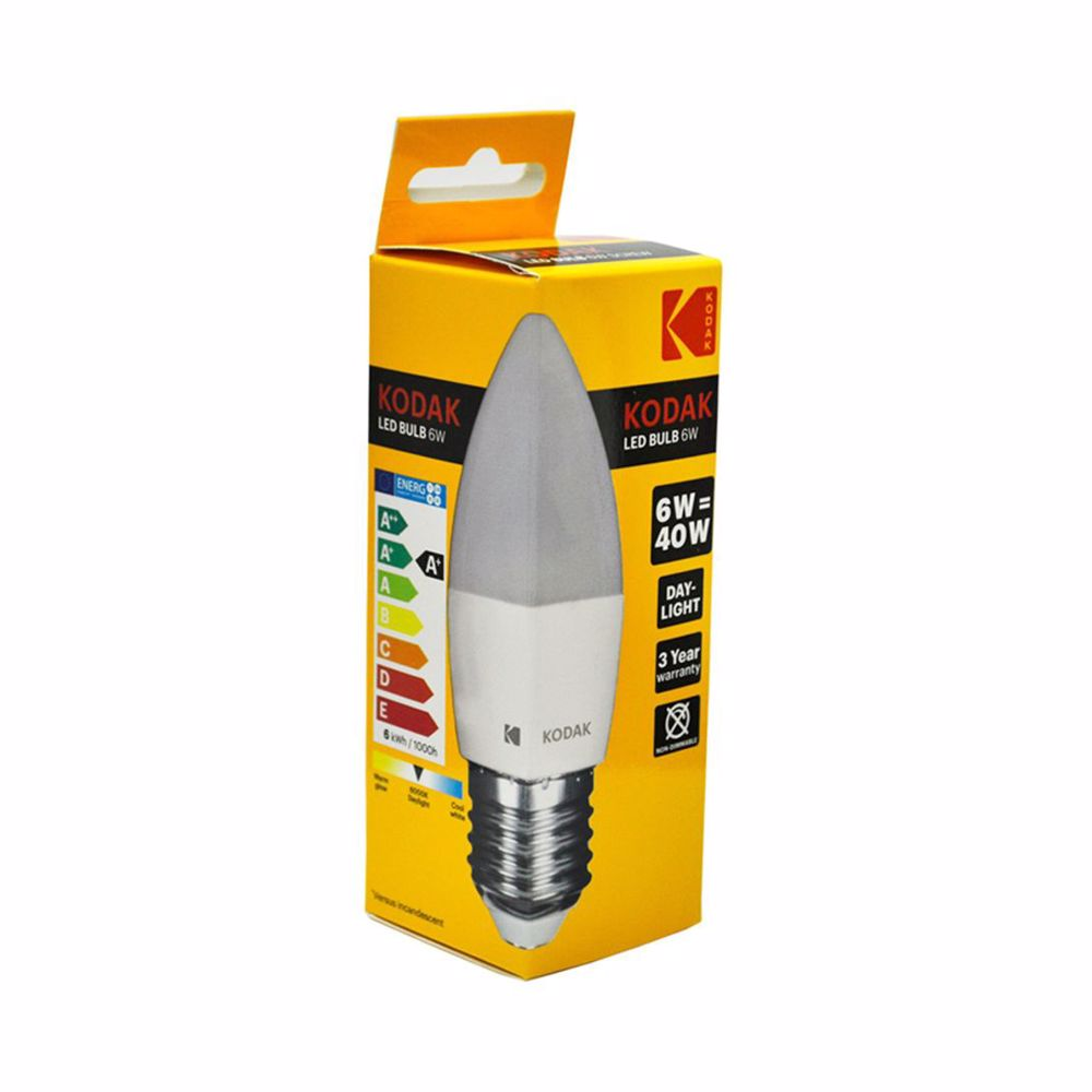 Kodak Led Bulb Candle C37 E27 6W - Daylight