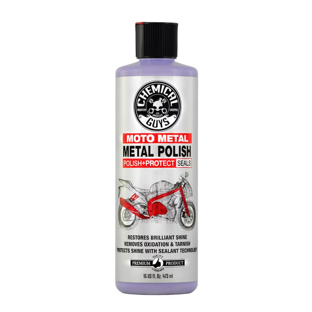 Chemical Guys Moto Metal Polish Cleaner, Polish & Protectant for Motorcycles 16oz