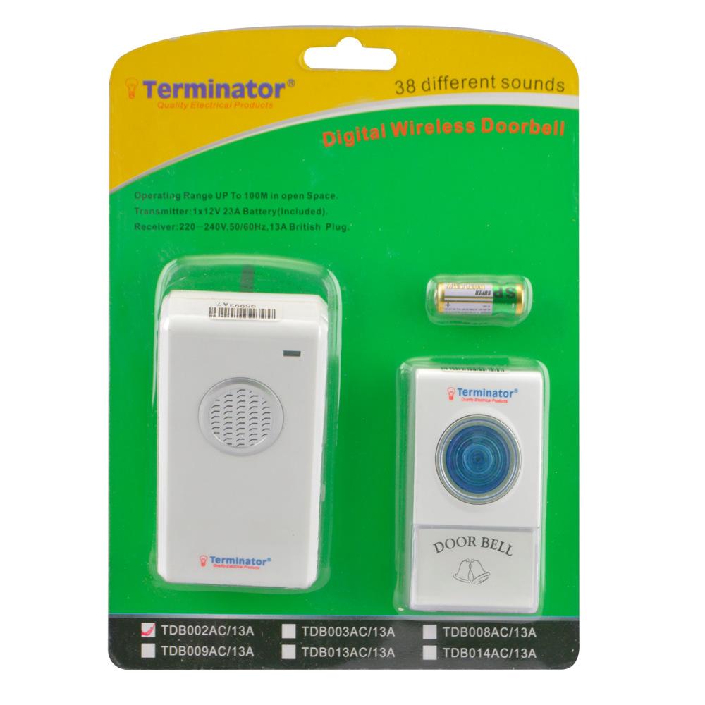 Terminator Wireless Digital Door Bell 13AC Plug - TDB 002AC-13A