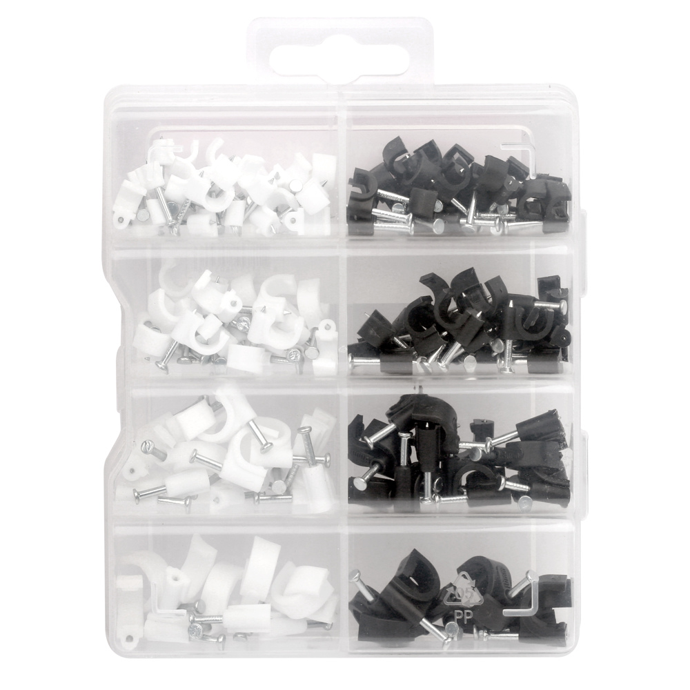 Power Safe Cable Clips Mixed size 134Pcs