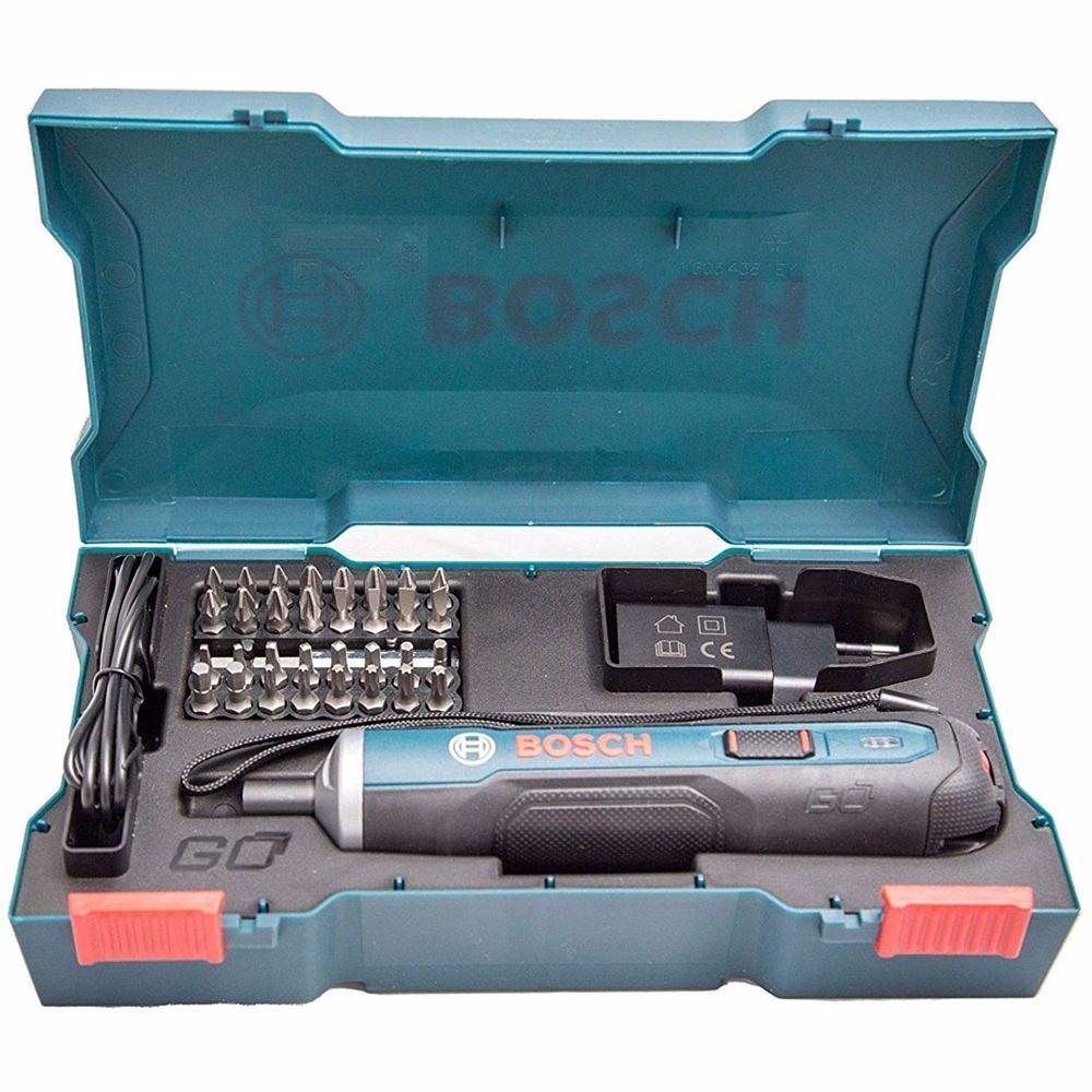 Bosch GO - Built in Battery, Screw Driver Kit  36 Pcs (Plastic case + Accessories) 3.6V