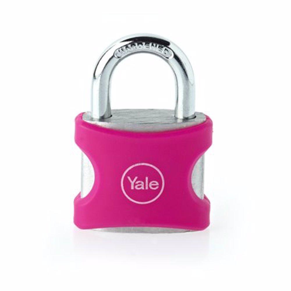 Yale YE3 Aluminium Padlock 38 mm Pink