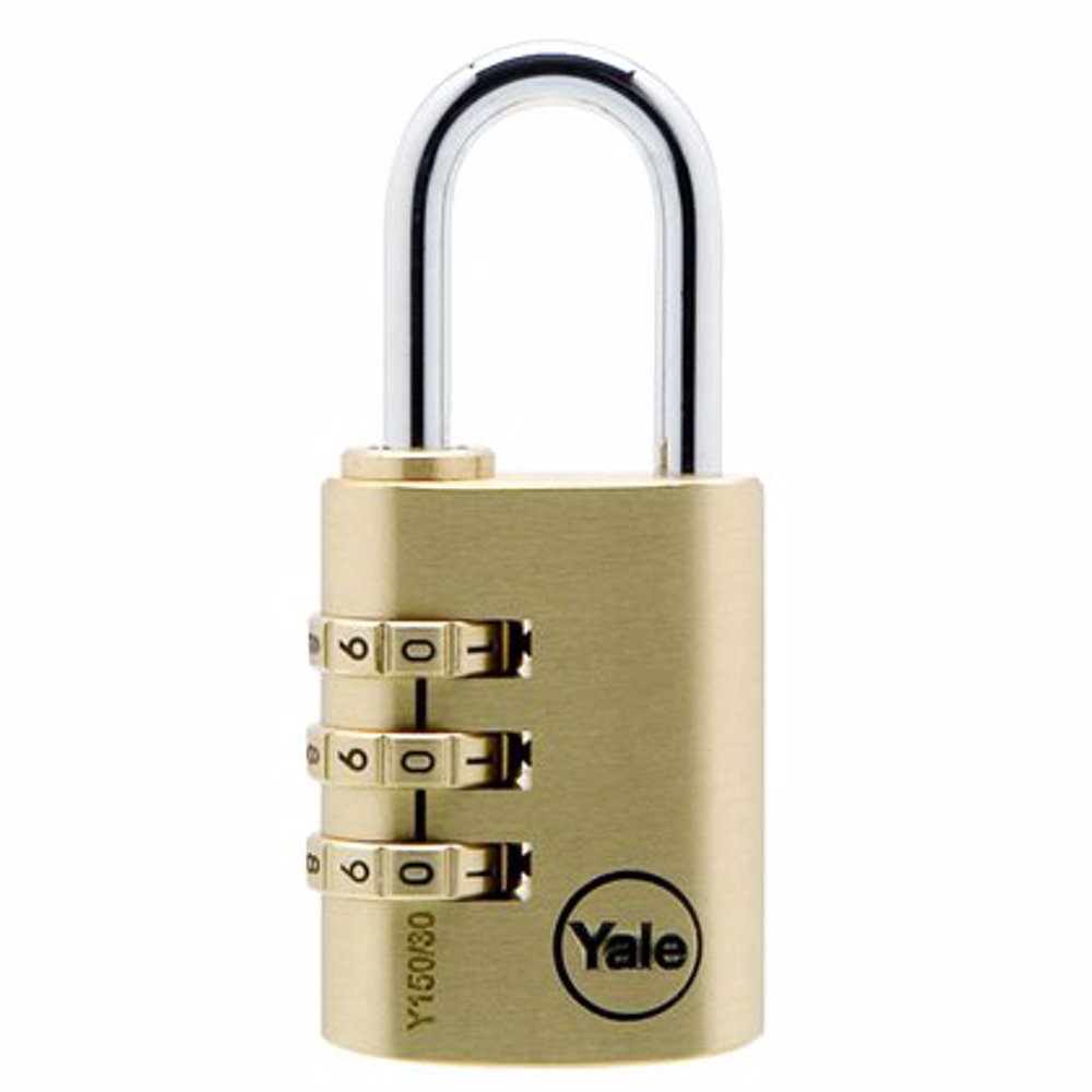 Yale Y150 3-Digit Combination Brass Padlock 40 mm