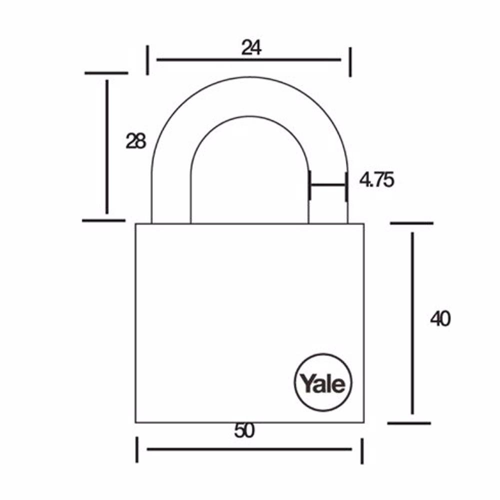 Yale Y126 4-Digit Combination Padlock 50 mm