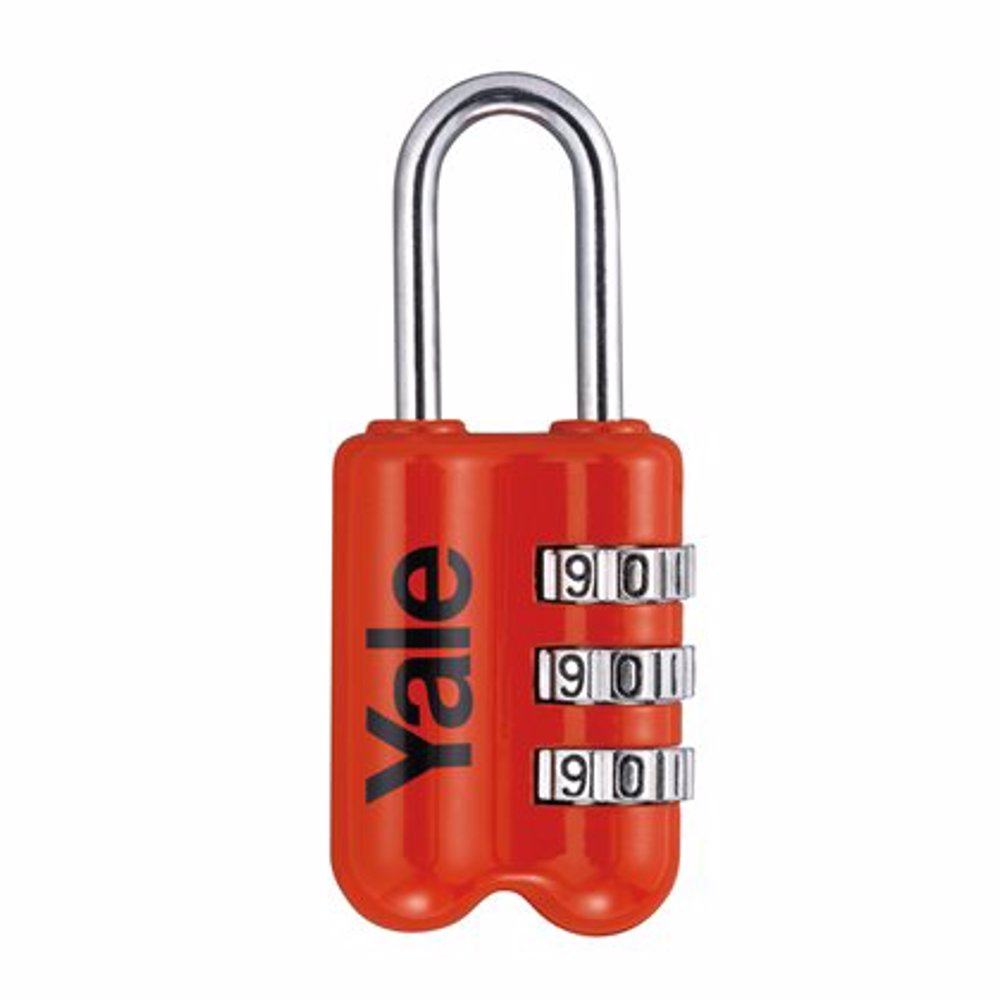 Yale YP2 3-Digit Combination Travel Padlock 23 mm Red