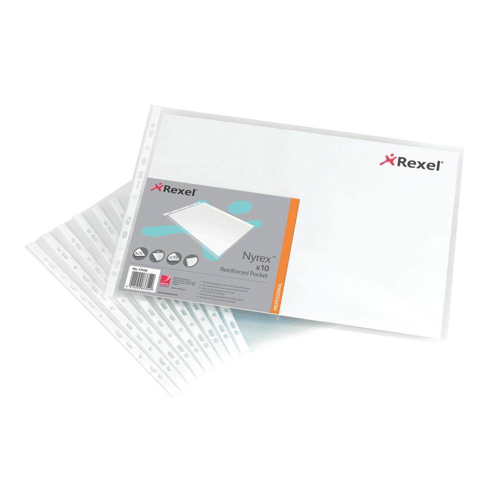 Rexel NPR/A4 Reinforcement Pocket (1x100sheet/pkt)