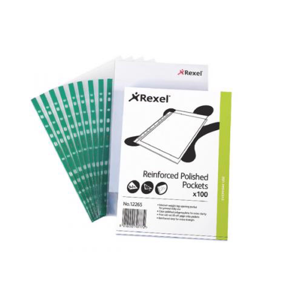 Rexel CKP/A4 Punched Pocket (1x100sheet/pkt)