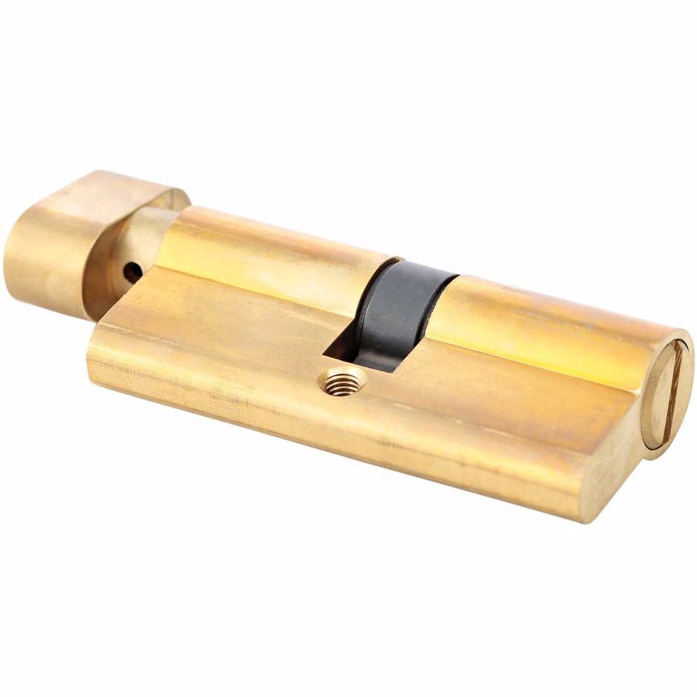 Bathroom Knob Turn Door Cylinder Gold 80 mm