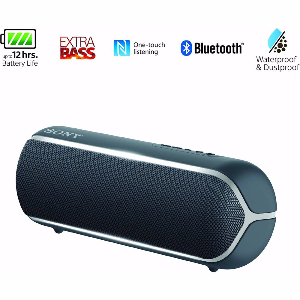 Sony XB22 Extra Bass Portable Bluetooth Speaker-Black