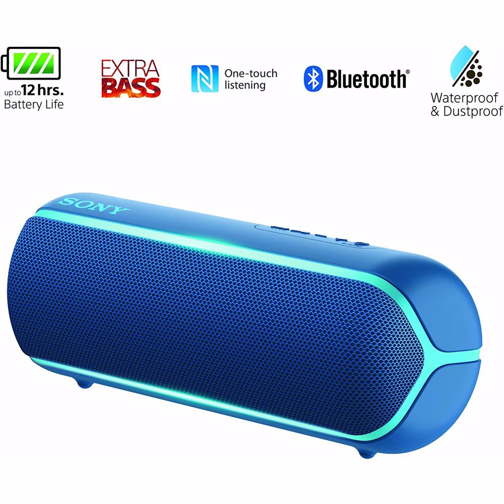 Sony XB22 Extra Bass Portable Bluetooth Speaker-Blue