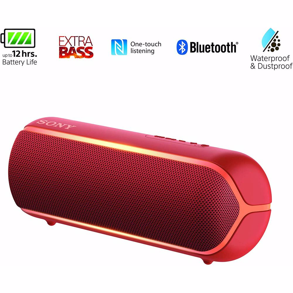 Sony XB22 Extra Bass Portable Bluetooth Speaker-Red