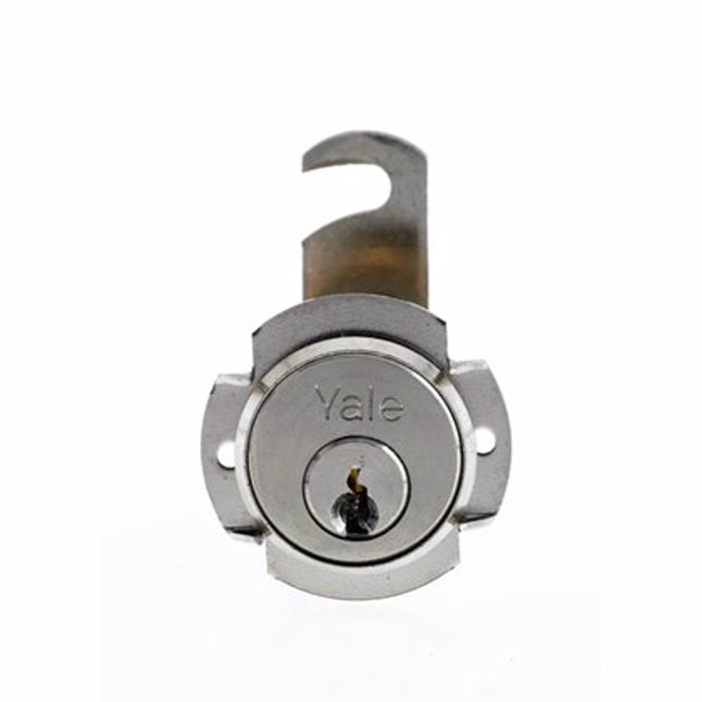 Yale 891 Universal Cylinder for metal cabinets 16mm Nickle Plated Brass 90° rotation