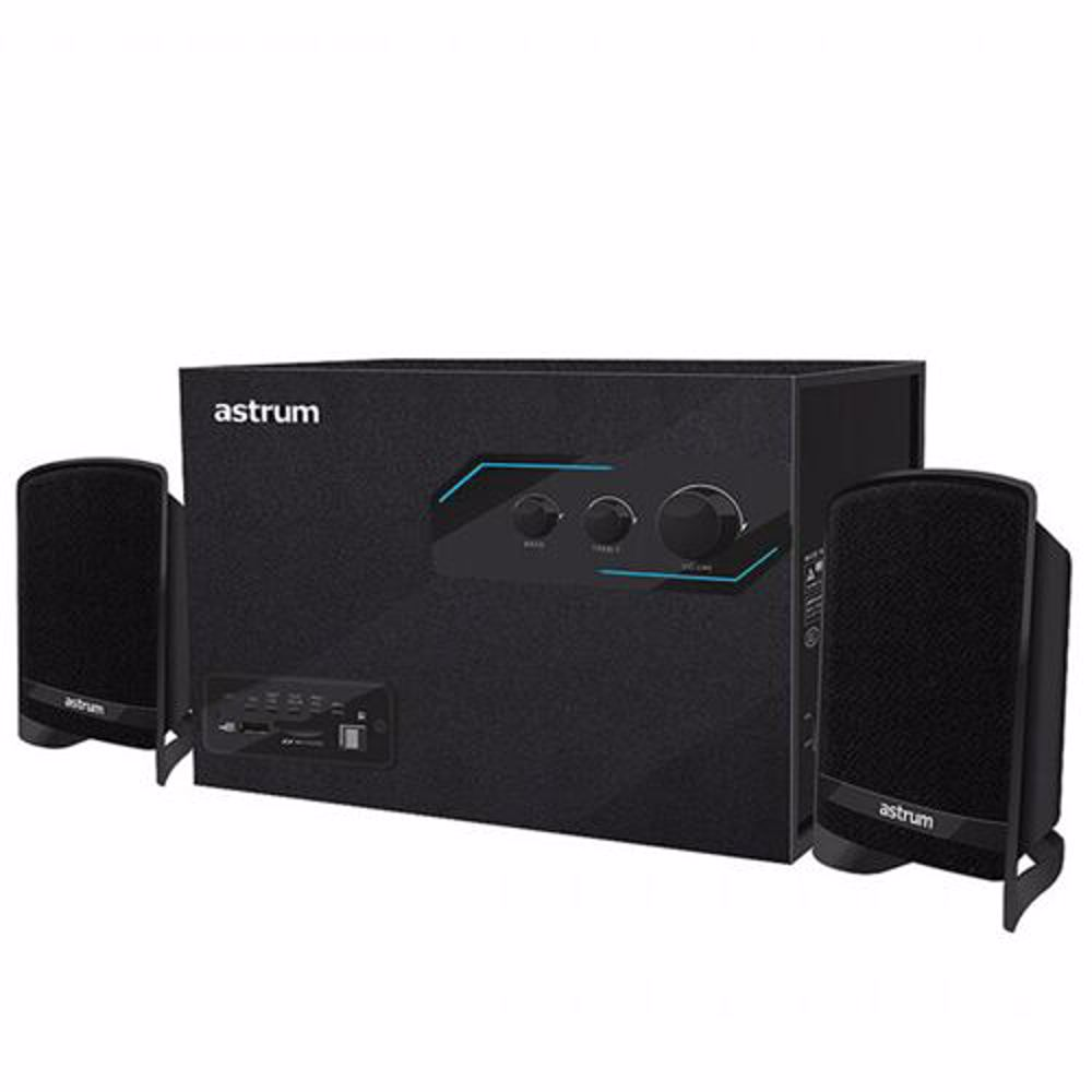 Astrum A215 2.1CH Speaker, 16W, USB / SD / RC /FM - Black