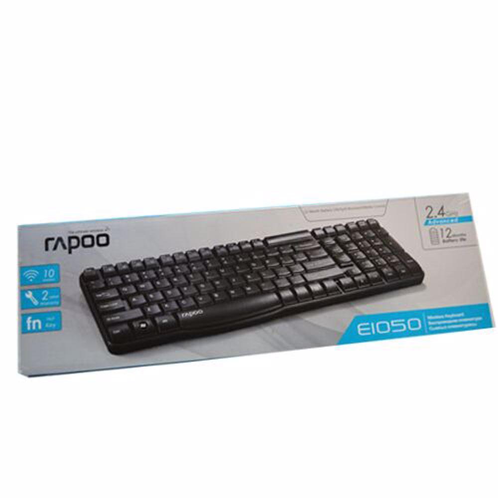 Rapoo E1050 2.4G Anti Splash Wireless Keyboard English Layout (Black)