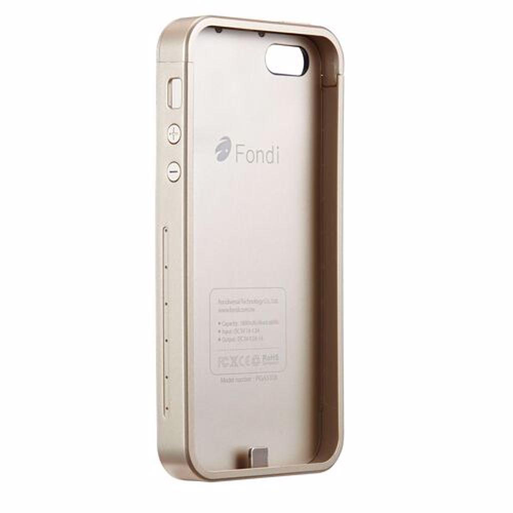 Fondi PowerBank Cover for Iphone 5/5S 1800 Mah - Gold
