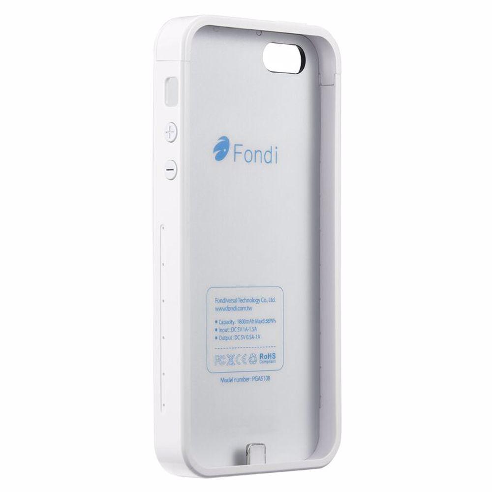 Fondi PowerBank Cover for Iphone 5/5S 1800 Mah - White