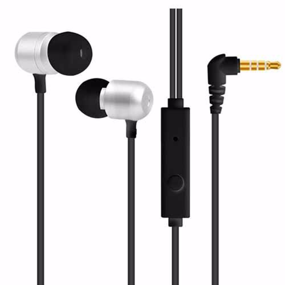 Zoook Bass Monster 110 Metallic HD Earphones with Xbass & Mic - Silver/Black