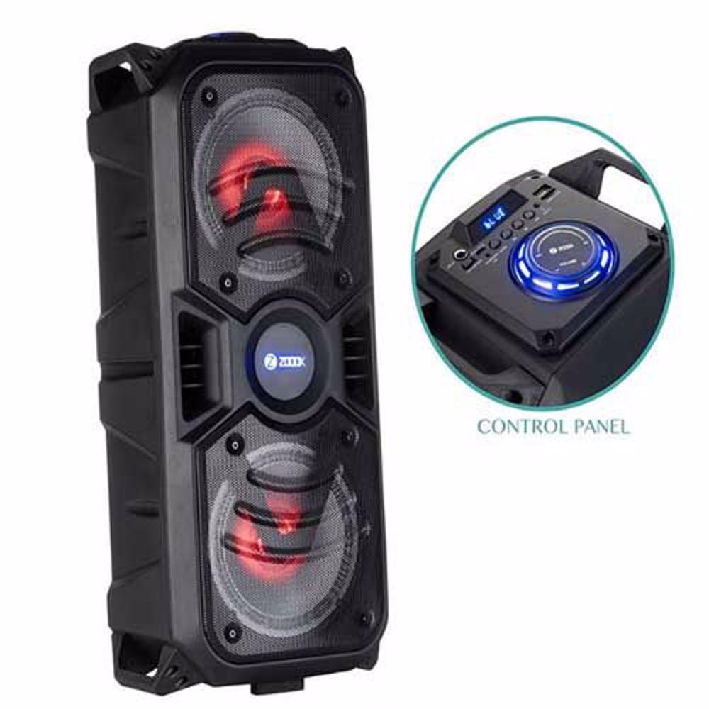 Zoook Rocker Thunder 40 watts Bluetooth Speaker with Karaoke Mic/TF/FM/LED/USB/Party Speaker - Black