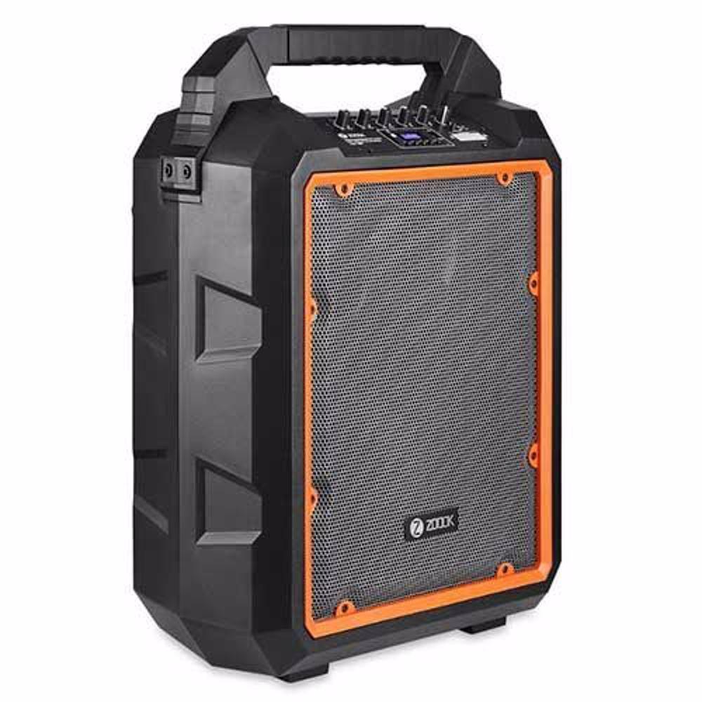 Zoook Rocker Herculean 200 watts Bass Machine Party Bluetooth Speaker with Karaoke Mic, Remote and Built in Amplifier(Black/Orange)