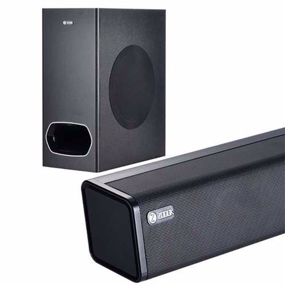 Zoook Rocker Studio One 130 watts Wireless Bluetooth SoundBar with Subwoofer, HDMi Arc, Fiber Optic Cable (Black)