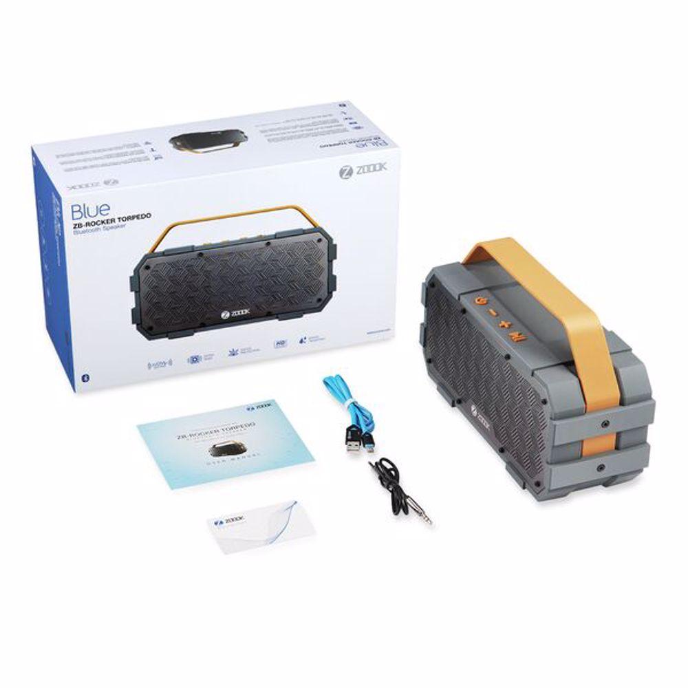 Zoook Award Winning 50W IPX5 Bluetooth Speaker System Battery of 5200mAh (MIC,Aux Input) - Black+Yellow