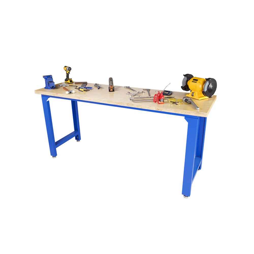 GAZELLE - G2601 47 Inch Wood Top Workbench with steel frame
