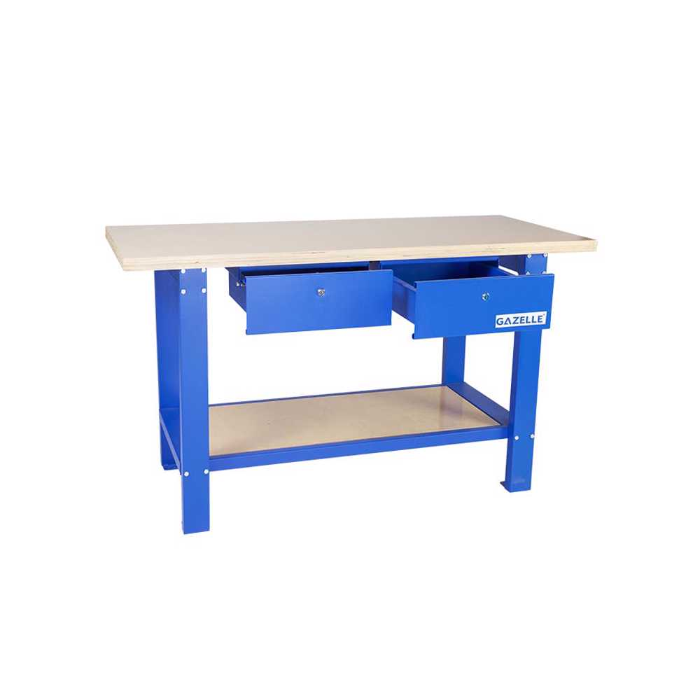 GAZELLE - G2604 59 Inch Solid Wood Top Workbench with drawers