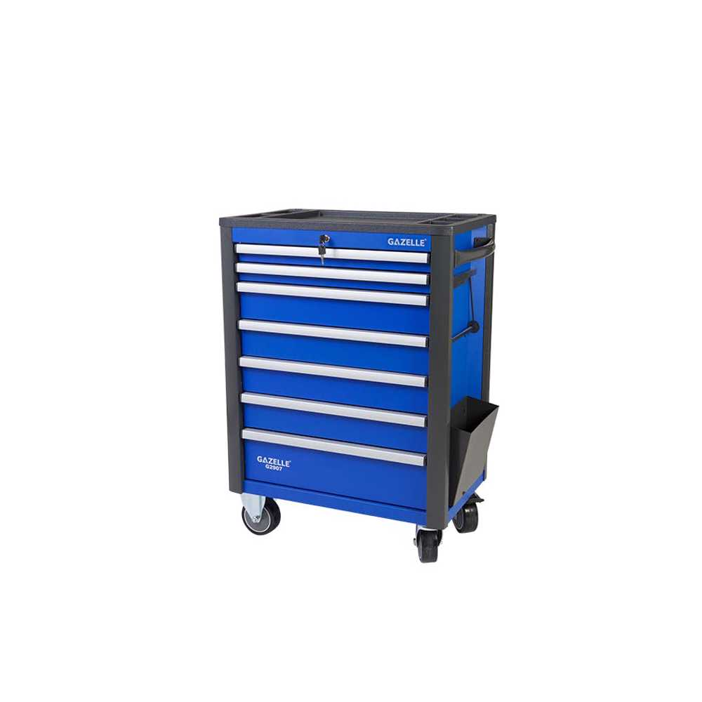 GAZELLE - G2907 Combo 28 Inch 7-Drawer Rolling Tool Cabinet with tool chest