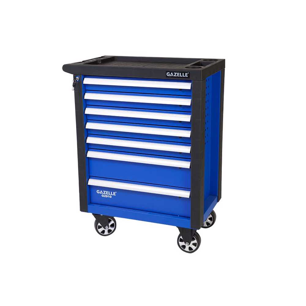GAZELLE - G2910 27 Inch 7-Drawer Rolling Tool Cabinet with 181 tools