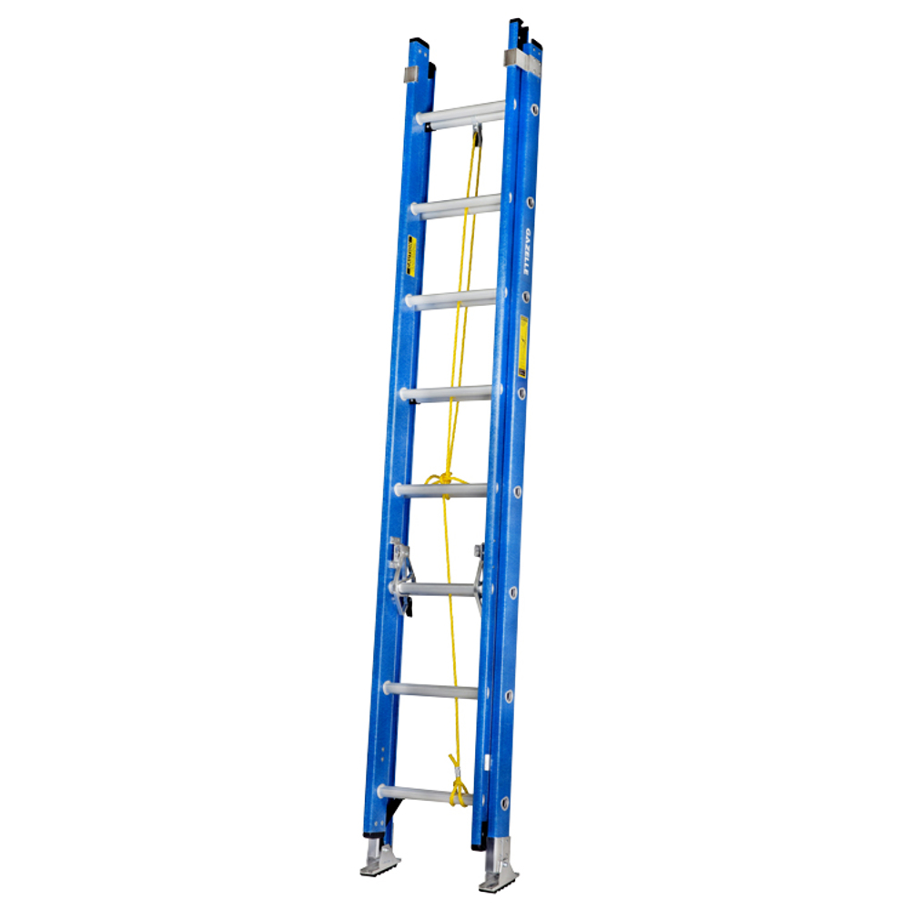 GAZELLE - 16 Ft. Fiberglass Extension Ladder w/ 300 Lbs. Load Capacity