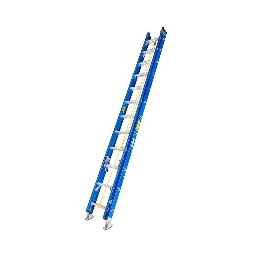 GAZELLE - 24 Ft. Fiberglass Extension Ladder w/ 300 Lbs.; Load Capacity