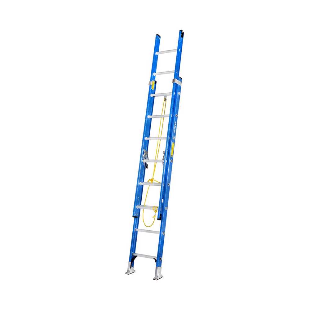 GAZELLE - 28 Ft. Fiberglass Extension Ladder w/ 300 Lbs. Load Capacity