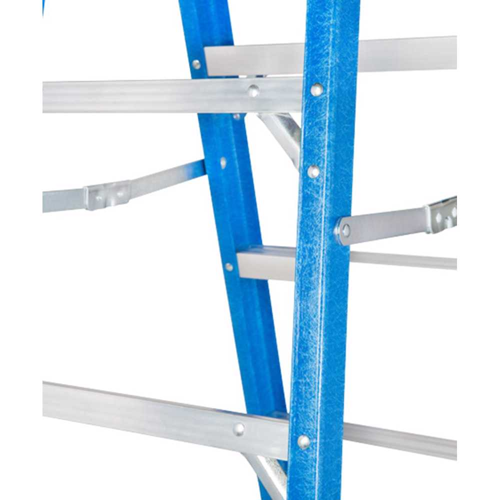 GAZELLE - 6Ft. Fiberglass Step Ladder for working height up to 10 Ft.