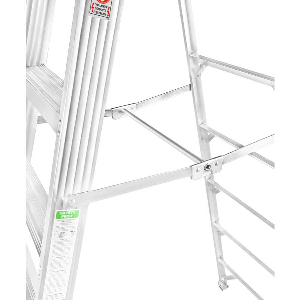 GAZELLE - 10 Ft. Aluminium Step Ladder for working height up to 14 Ft.