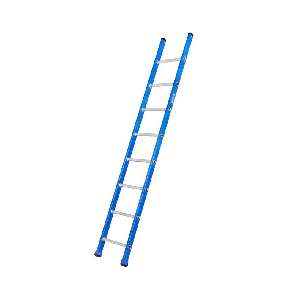 GAZELLE - 8 Ft. Fiberglass Straight Ladder for working height up to 11.5 Ft.