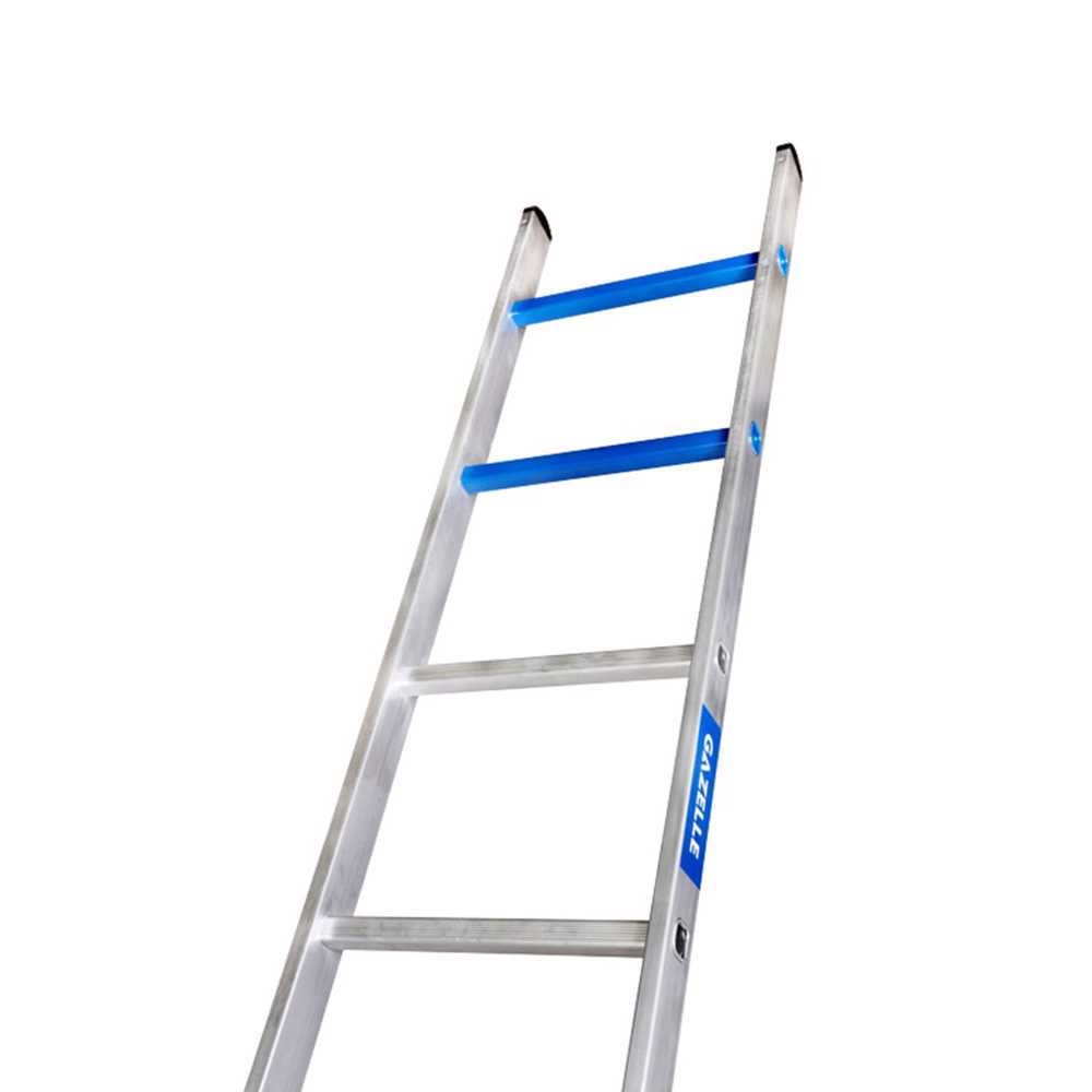 GAZELLE - 10 Ft. Aluminium Straight Ladder for working height up to 13 Ft.