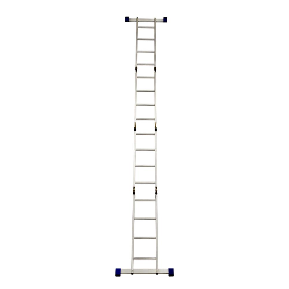 GAZELLE - 15 Ft. Aluminium Ladder 4 section 4 x 4 steps