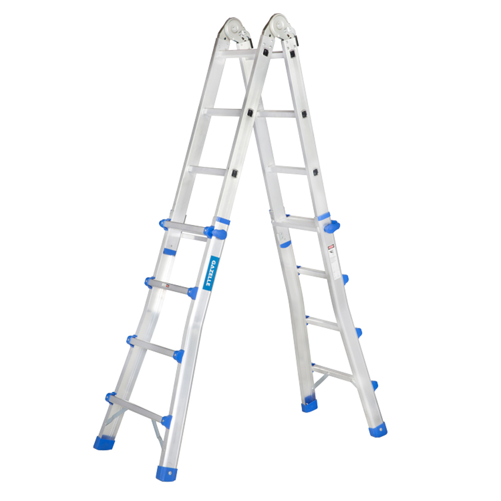 GAZELLE - 15.5 Ft. Telescopic Aluminium Ladder 4 x4 Steps