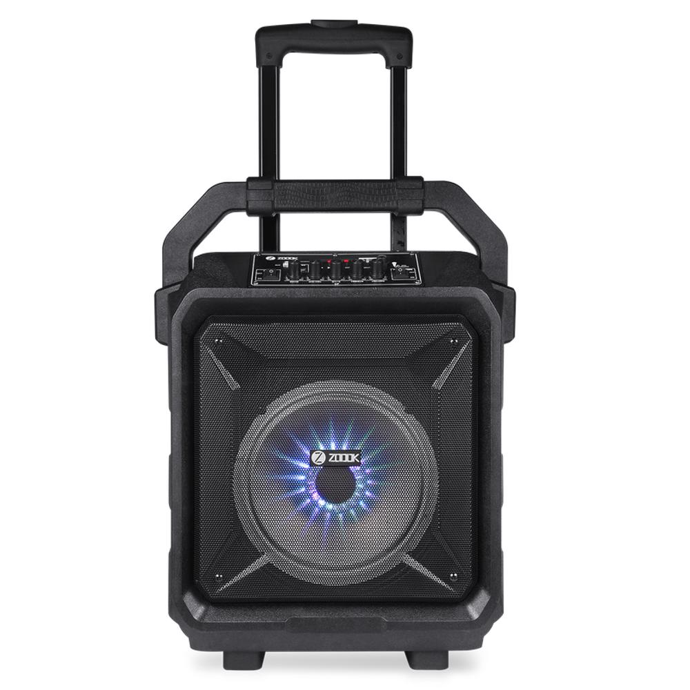 Zoook Rocker Thunder XL 50 watts Trolley Karaoke Bluetooth Speaker with Remote, Built in Amplifier & Wireless Mic - Black