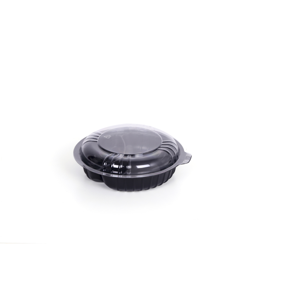 Hotpack 2 Divider Bowl With Lid Black/Clear
