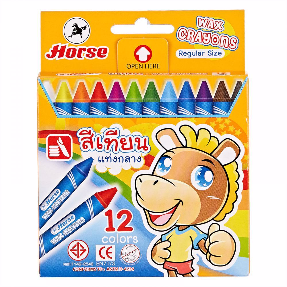 Horse Wax Crayon - Regular -1 Set of 12