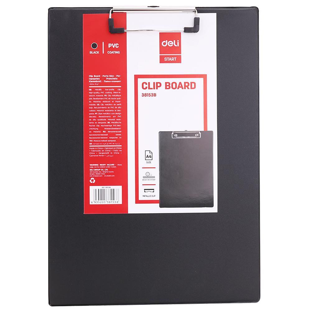 Deli Clip Board (Grey) PP A4