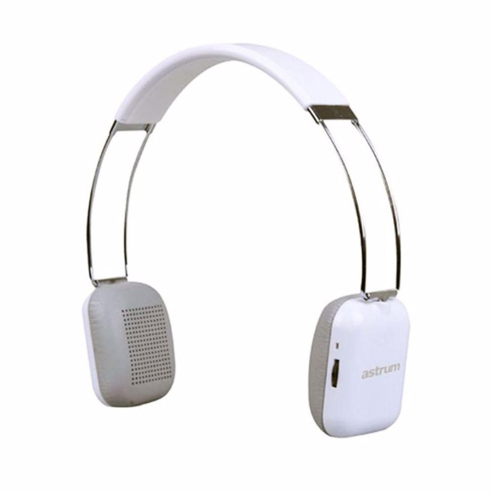 Astrum 3.0 Bluetooth - Elegant Steel Shiny Headset with Hidden Mic &Li Polymer Battery - White