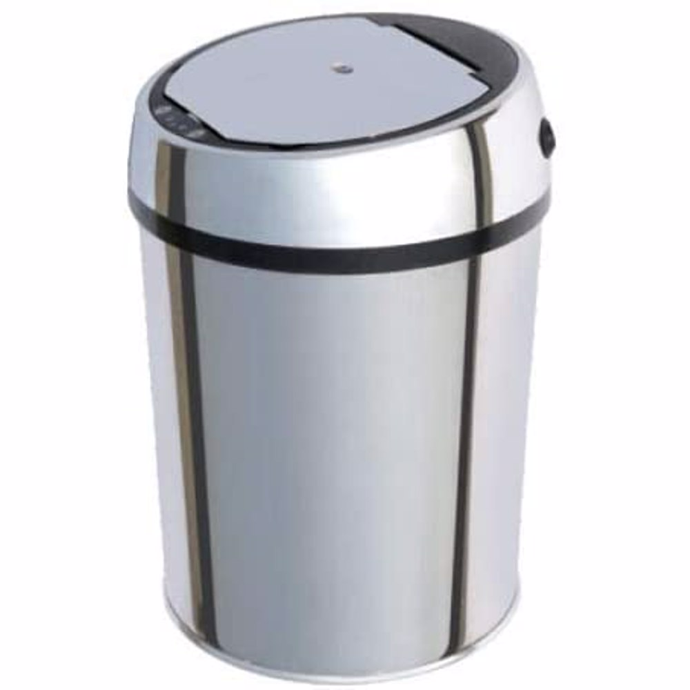 TechMate 9 Liters Automatic Sensor Dustbin with Automatic Opening System - Silver